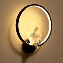 цены Angle with violin LED wall lamps bedroom Modern style Simple Reading lamp Living room hallway AC90-260V lighting stand