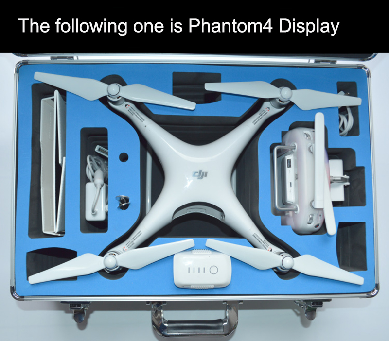 DJI phantom 3/4 standard High quality aluminium case protection for DJI 3 Phantom Quadcopter RC Helicopter Aerial FPV trolley free shipping 1piece lot top quality 100% aluminium material waterproof ip67 standard aluminium box case 64 58 35mm