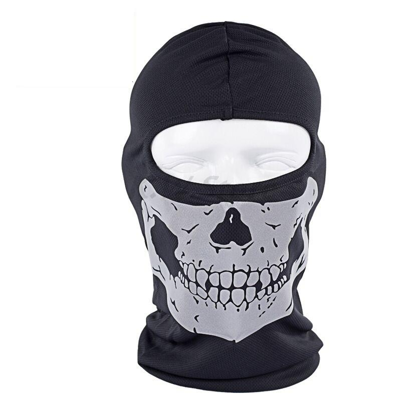 2017 New Polyester  cycling Motorcycle Skull Masks wind Hat dust protection grimace reflective face ghost Ski mask Free Shipping free shipping 5pcs dust masks protection face prevent mist haze pm2 5 mouth masks with exhalation valve