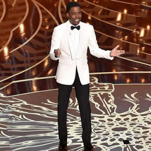 Custom White Men Suits Wedding Groom Tuxedos Slim Fit Terno Masculino 2Piece Coat Black Pants Shawl Lapel Costume Homme Mariage