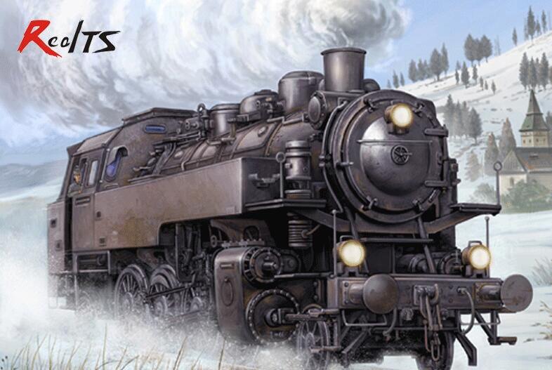 Oyuncaklar ve Hobi Ürünleri'ten Modeli Yapı Setleri'de Trompetçi 00217 1/35 Alman Dampflokomotive BR86 Plastik model seti'da  Grup 1