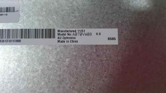A070VW08 V2 V0 7 pollice schermo LCD è utilizzato per auto DVD di navigazione