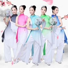 Chinese traditional womens dance costume children classical fan girl style childrens national costumes