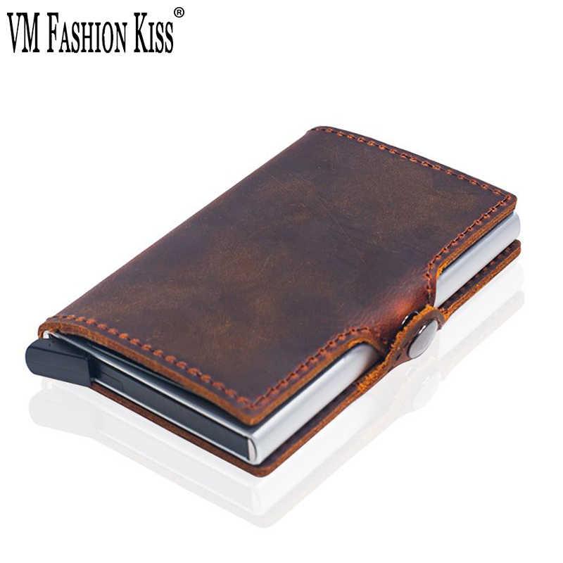 104c63da7669 VM FASHION KISS Crazy Horse Genuine Leather Hasp Rfid wallet ...