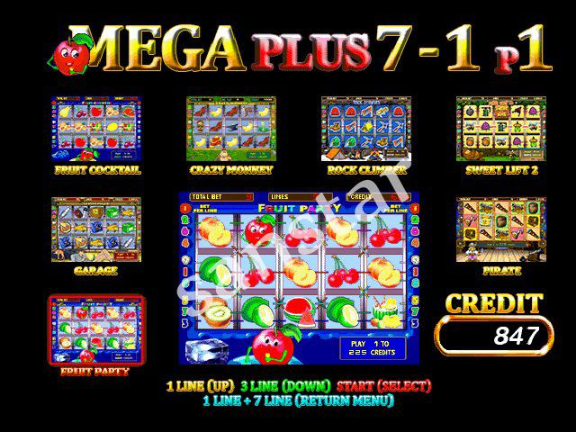 New Mega 7 In 1 with Friut party percentage 60 94%  every2%Casino Game Pcb For Slot Machine Gambling Machine-in Coin Operated Games from Sports & Entertainment    2