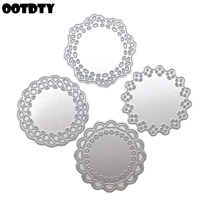 4Pcs Mini Lace Doily Circle Metal Cutting Dies Scrapbooking Craft Dies Making Paper Art Diy Embossing New for 2020 Cutting Dies    - AliExpress