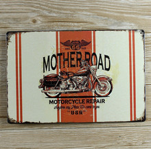 New Vintage plaques Retro decor Metal signs Motorcycle Tin art wall sticker cafe bar 20*30CM Free shipping Hot sale