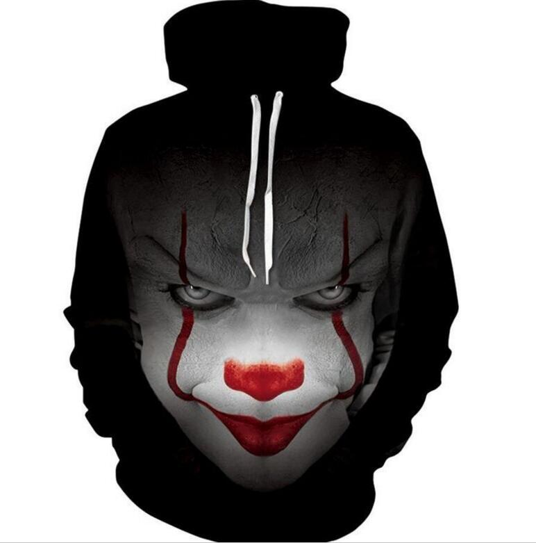 Hoodies & Sweatshirts 2019 Latest Design New Movie It Pennywise Clown Stephen King 3d Print Hoodies Horror Movie Hoody Sweatshirt Cosplay Tracksuit Sportswear Choice Materials