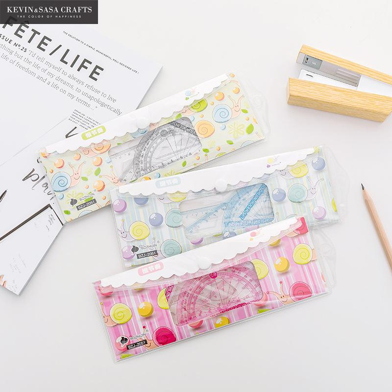 New Ruler Set Kawaii School Supplies Quality Cute School Tools Stationery Creative Cartoon Students Stationery Tools