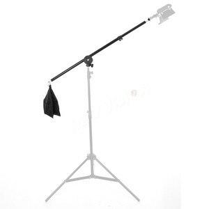 """Image 5 - Braço telescópico de estúdio, 75 140cm / 30 """" 55"""" para fotos, braço de boom, luz superior, com sandbag para speedlite/mini flash estroboscópico"""