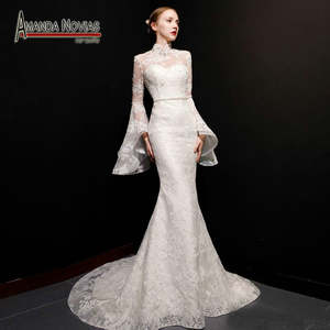 1906c6ae5e9e best backless lace mermaid wedding dress with beading list