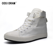COSIDRAM Fashion Canvas Men Casual Shoes New 2018 High Top Men Shoes For Male RME-329(China)