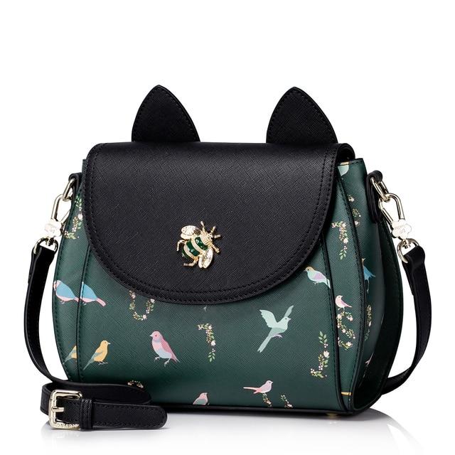 2018 Cute Harajuku Print Bird Ear Braccialini Shoulder Bag Luxury Diamond Lady Bag Women Shell Messenger Handbag Crossbody Bags