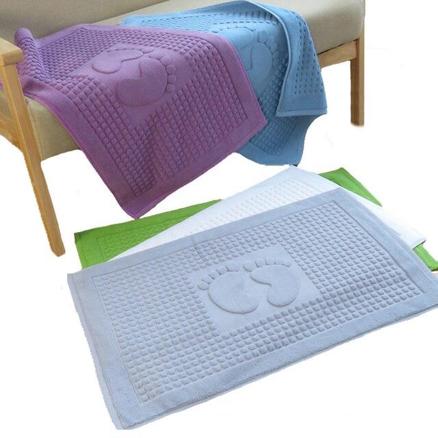 100% Cotton Non-slip Bath Hotel Mats Bathroom Carpet Bathroom Kitchen Doormat Living Room Sofa Floor Mat Foot Pad Bedside Rugs
