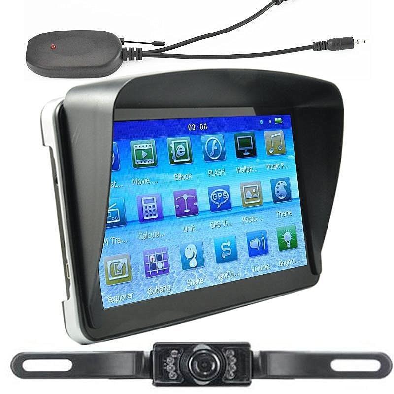 7-дюймовый автомобильный gps спутниковой навигации 256 M/8G с Bluetooth AV-IN Карты+ Беспроводной заднего вида Камера