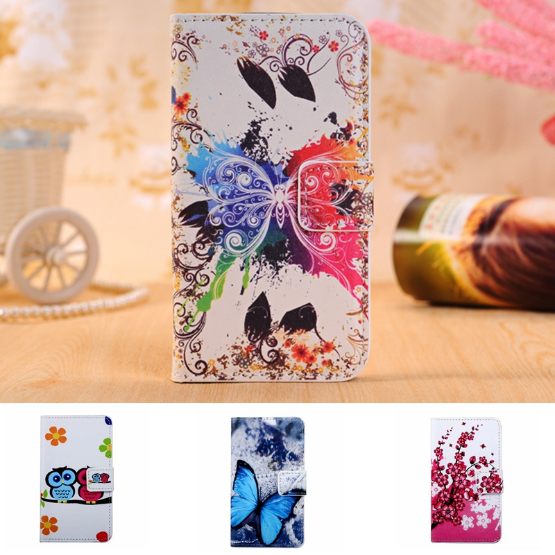 Luxury Flower Leather Wallet Case For <font><b>Sony</b></font> <font><b>Xperia</b></font> <font><b>E3</b></font> D2203 D2243 <font><b>E3</b></font> Dual <font><b>D2212</b></font> Shell Stand Fundas TPU Back Cover Phone Bag image