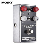 MOSKY BROWN Distortion Guitar Effect Pedal Full Metal Shell True Bypass 2 switches Black For Electric Guitar Accessories Parts