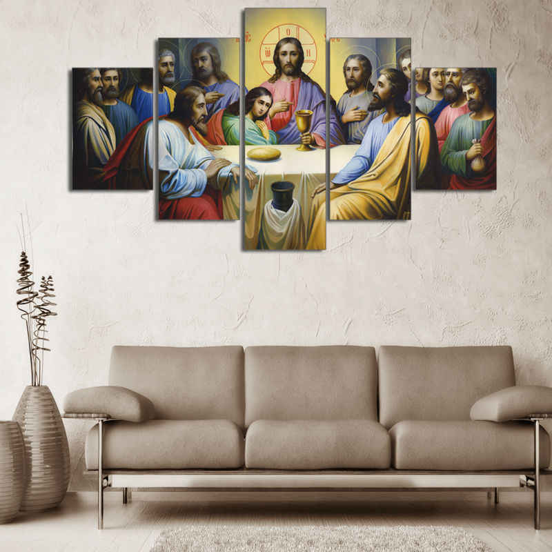 5 Pcs Abstract Modern Oil Painting Art Canvas Printed Wall Home Decor Framless