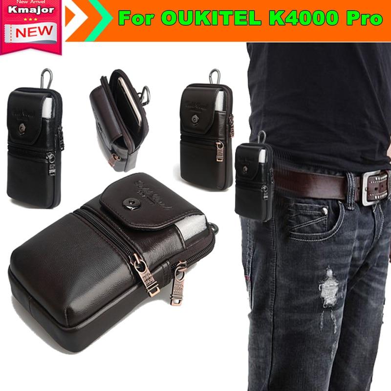 imágenes para Carry case bolsa de cinturón de clip monedero de la cintura de cuero genuino cubierta para oukitel k4000 pro 5.0 pulgadas smartphone envío gratis
