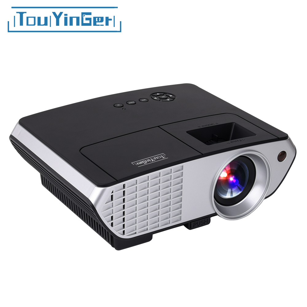 Touyinger Everycom X8 Video Projector Home Theater LCD Proyector 2500 lumens Full HD with HDMI VGA USB LCD Projetor MINI Beamer