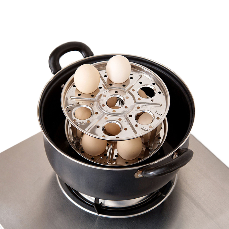 TUUTH 304 Stainless Steel Steamer Rack Detachable Insert Stock Pot Steaming Tray Stand Cookware Kitchen Tool