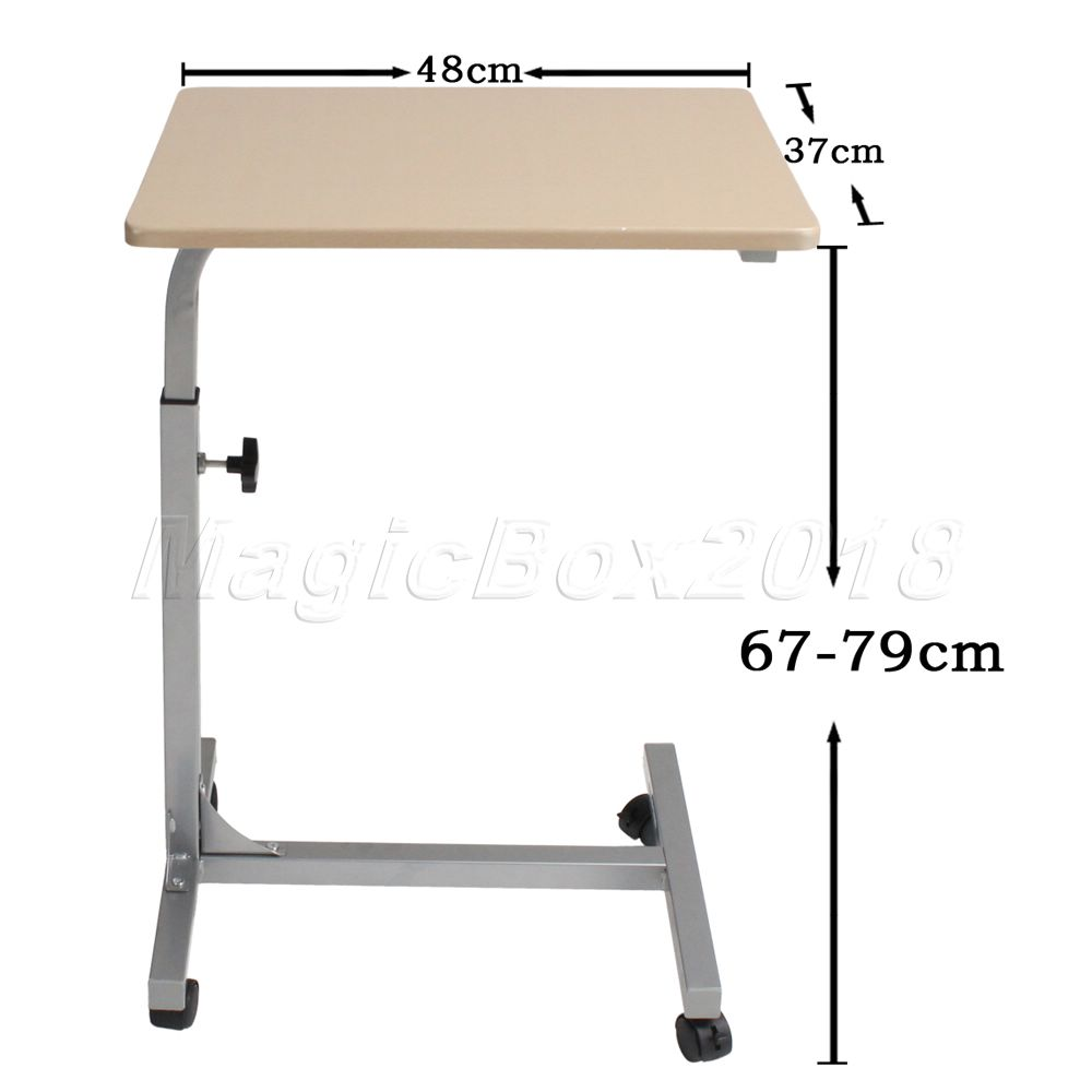 Rolling bed tray table -  Uk Stock Direct Shipping Wholesale Adjustable Rolling Over Laptop Computer Pads Stand Table Study Desk Tray