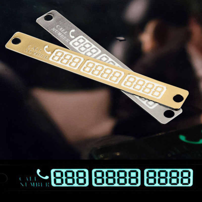 Vingtank Telefonnummer des Temporäre Parkkarte Silber Gold Benachrichtigung Nacht Shiny Sucker Karte Telefonnummer Karte Zeichen