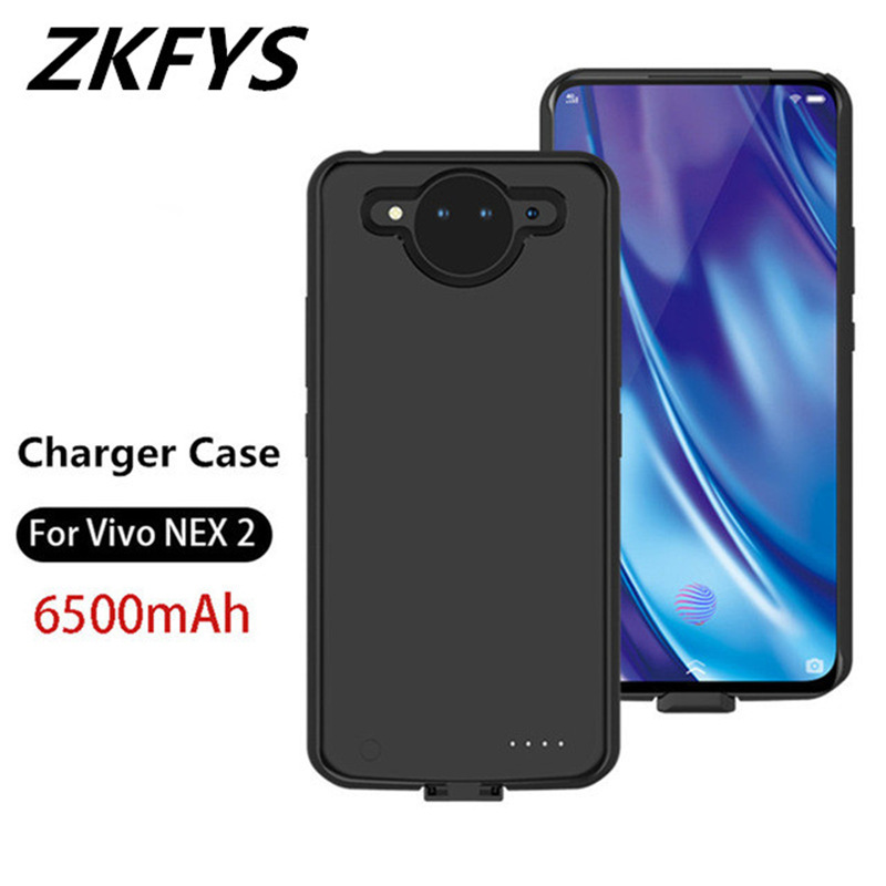 ZKFYS Moblie phone power Bank Quickly Charger Case 6500mAh External Battery Case For Vivo NEX 2 Back Dlip Battery in Battery Charger Cases from Cellphones Telecommunications