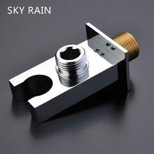 SKY RAIN Bathroom Accessories Brass Shower Head  Pedestal Hand Held Holder Bracket With Water Outlet