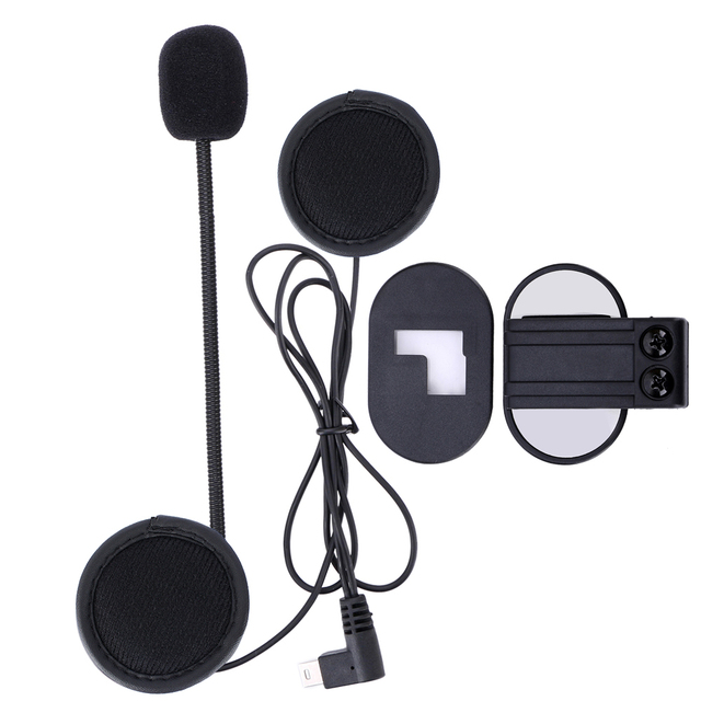 one lot V2 Stereo Earphone Microphone & Clip Accessories Suit for V2 BT Interphone Motorcycle Bluetooth Helmet Intercom
