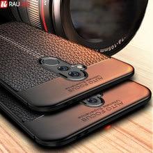 Voor Huawei Mate 20 Lite Case Mate 20 Lite Cover Soft Tpu Bumper Lederen Textuur Siliconen Robuuste Case Voor Huawei mate 20 Lite