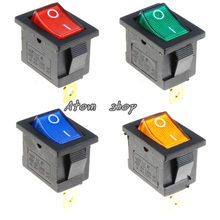 1PCS On/Off Rectangle Rocker Switch Car Dash KCD1 3P 220v(China)