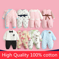 Baby Boy Gentleman Girls Princess Lace Rompers Clothes New Born Baby Cartoon Jumpsuit Warm Spring Winter
