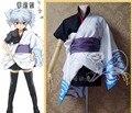 Las Mujeres Lolita Falda Cosplay GINTAMA Silver Soul Sakata Gintoki Cosplay Del Kimono