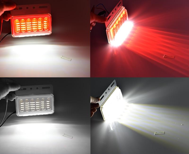 CNSUNNYLIGHT 24V LED Turn Signal Light Side Clearance Lamp Tail Reverse Truck Trailer Lorry Van Warning Fog Parking Lighting Bar (8)