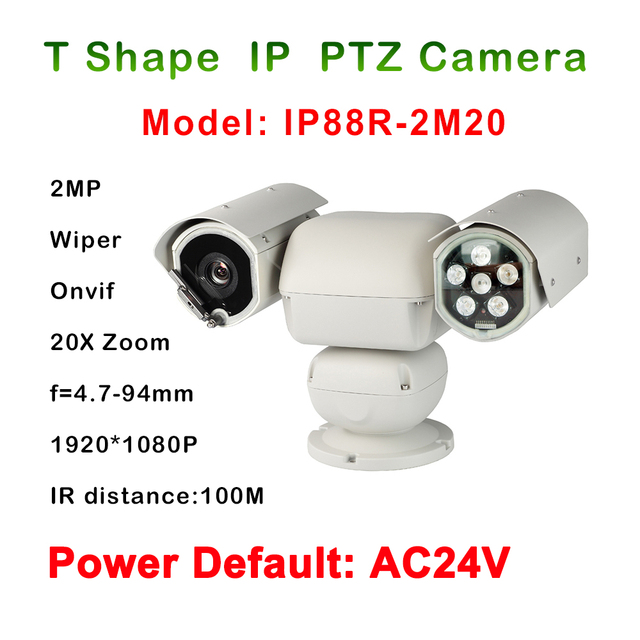 2017 New Heavy Duty PTZ Camera 1080P 2 Megapixel 20 x Zoom waterproof AC24V For CCTV Day Night Industrial Vehicle Use