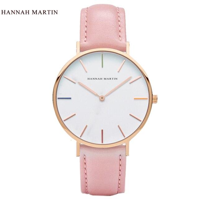 2017 New Designer HANNAH MARTIN Women Ladies Female Clock Mens Top Brand Luxury