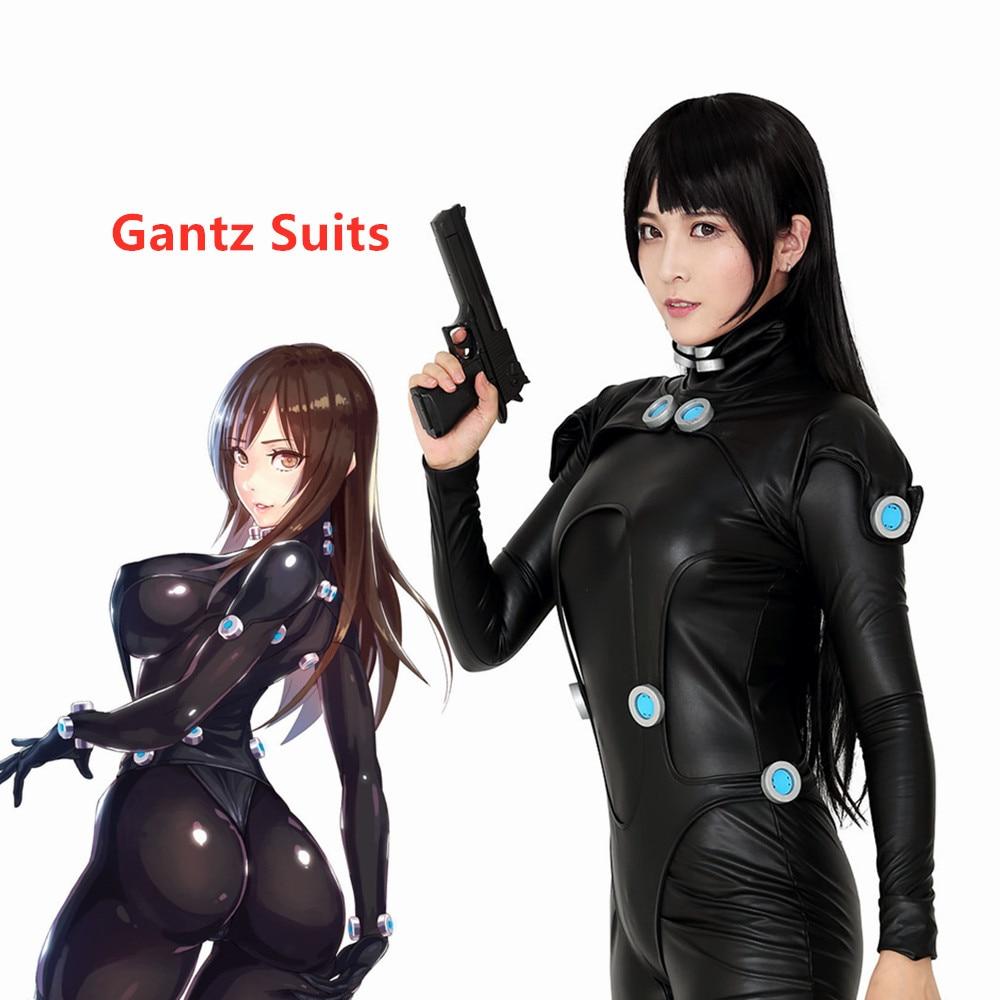 GANTZ Cosplay Costume Shimohira Reika Suits Women Black Jumpsuit Halloween Outfits