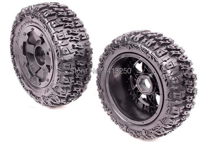 5T Rear knobby wheel set  for baja parts,free shipping 5t knobby wheel set for 1 5 hpi baja 5t