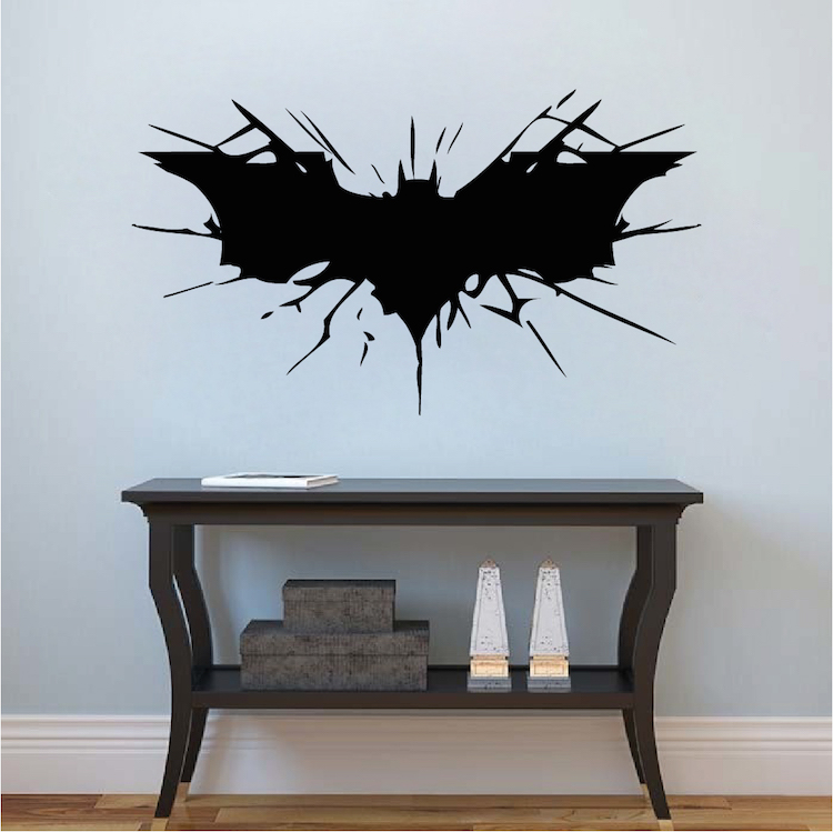 Batman Wall Decal Boys Bedroom Removable Animal Wall Stickers Black Silhouette Decals Decor 40 Colors Available Decoration ZA780-in Wall Stickers from Home ... & Batman Wall Decal Boys Bedroom Removable Animal Wall Stickers Black ...