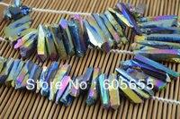 אבן יקרה למחצה בוגר גלוון צבעוניים חרוזים הטבעי קוורץ קריסטל Rough עבור Jewerly 5 pc ללוט משלוח חינם
