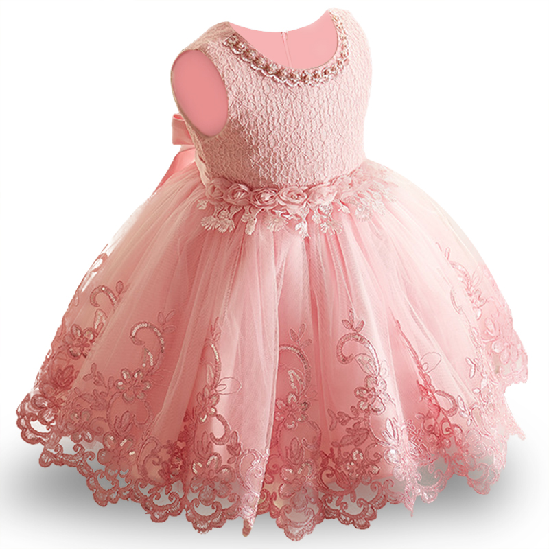 Baby Girls Princess Dress Lace Flowers Children Bridemaid Dress For Wedding Toddler Girls Tutu Party Prom Dresses Kids Clothing autumn girls children s kids baby long sleeve lace mesh tutu patchwork basic dresses princess wedding party dress vestidos s5691