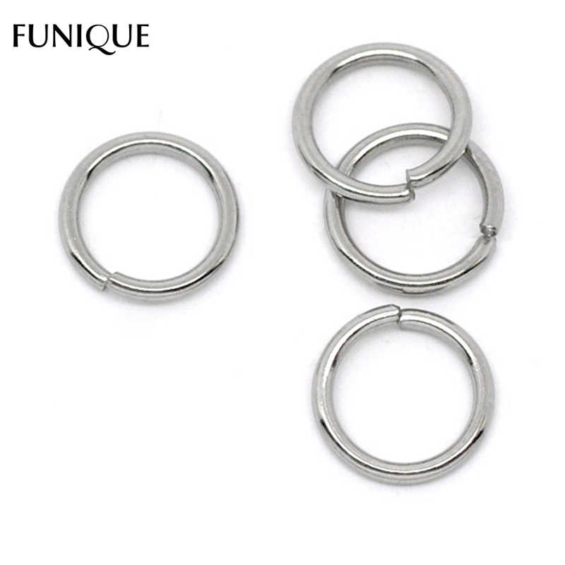 FUNIQUE Stainless Steel Open Jump Rings Accessories Findings 4-10mm Dia. Split Rings DIY Bracelets Silver Tone 50PCs /100PCs