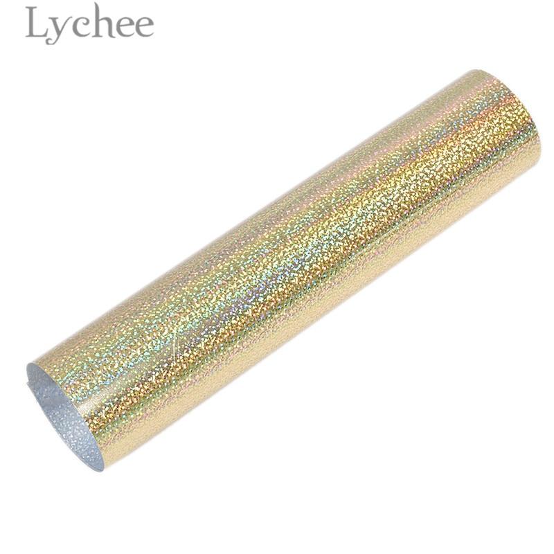 Lychee 30x25 см лазерный термопресс передачи винил блеск ПВХ декоративные принадлежности для футболки одежда - Цвет: 2