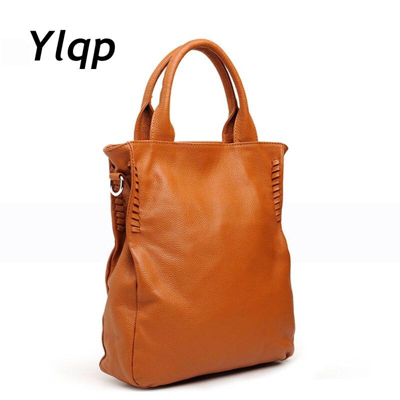 2018 New Arrival Female Soft Genuine Leather Handbags Vintage One Shoulder Bag for Women Laptop Messenger Bag Top Handle Satchel цена 2017