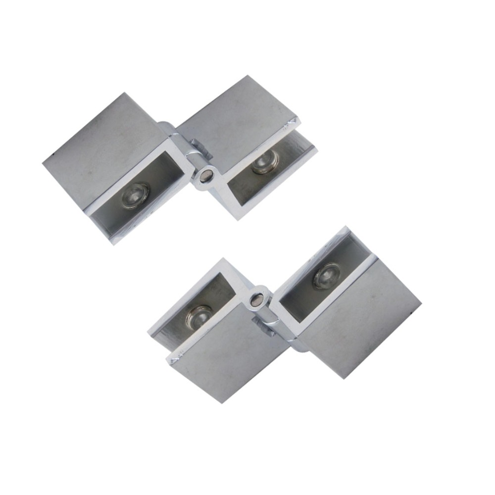 2pcs 90 Degree Adjustable Glass Hinge Fit 6-8mm Cabinet Door Hinges for Bathroom Shower Zinc Alloy Glass Hinge Clamps brand naierdi 90 degree corner fold cabinet door hinges 90 angle hinge hardware for home kitchen bathroom cupboard with screws