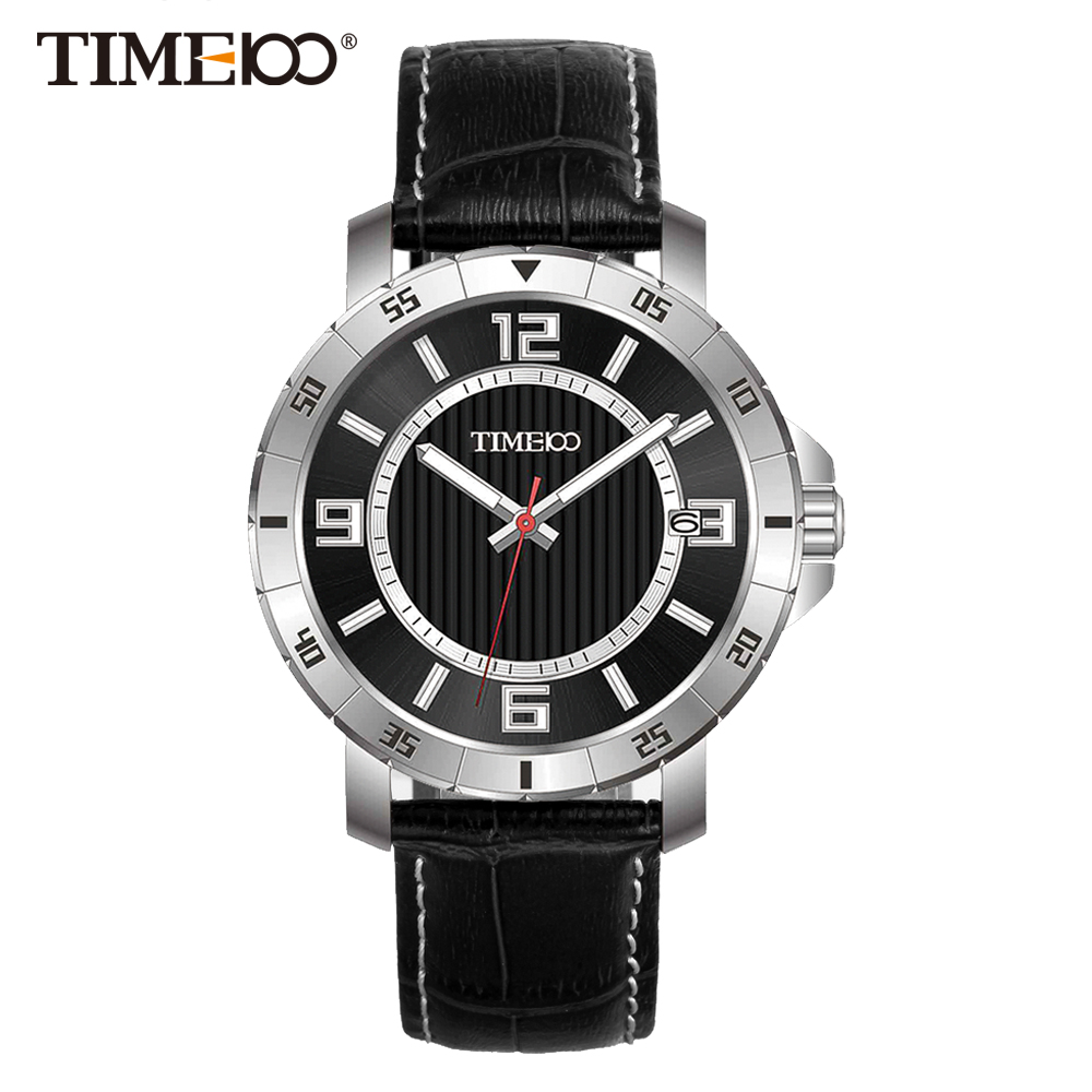 compare prices on mens watch black metal online shopping buy low time100 men watches black leather strap auto date quartz watches business casual wrist watch for men