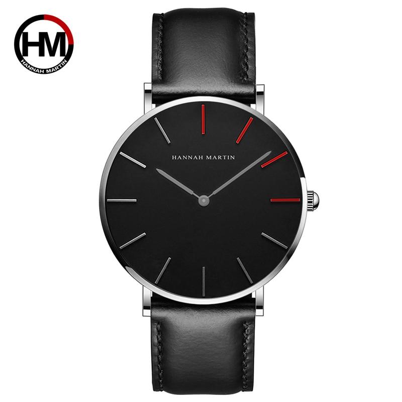Marca Japón Quartz Men Women Relojes de pulsera de lujo Ultra Thin - Relojes para hombres - foto 3