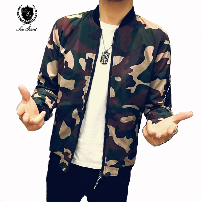 2019 Autumn Mans Fashion Camouflage Jacket Men Casual Loose Streetwear Zipper Mens Jacket Sportswear Water Wash Teenage Jacket Beautiful In Colour