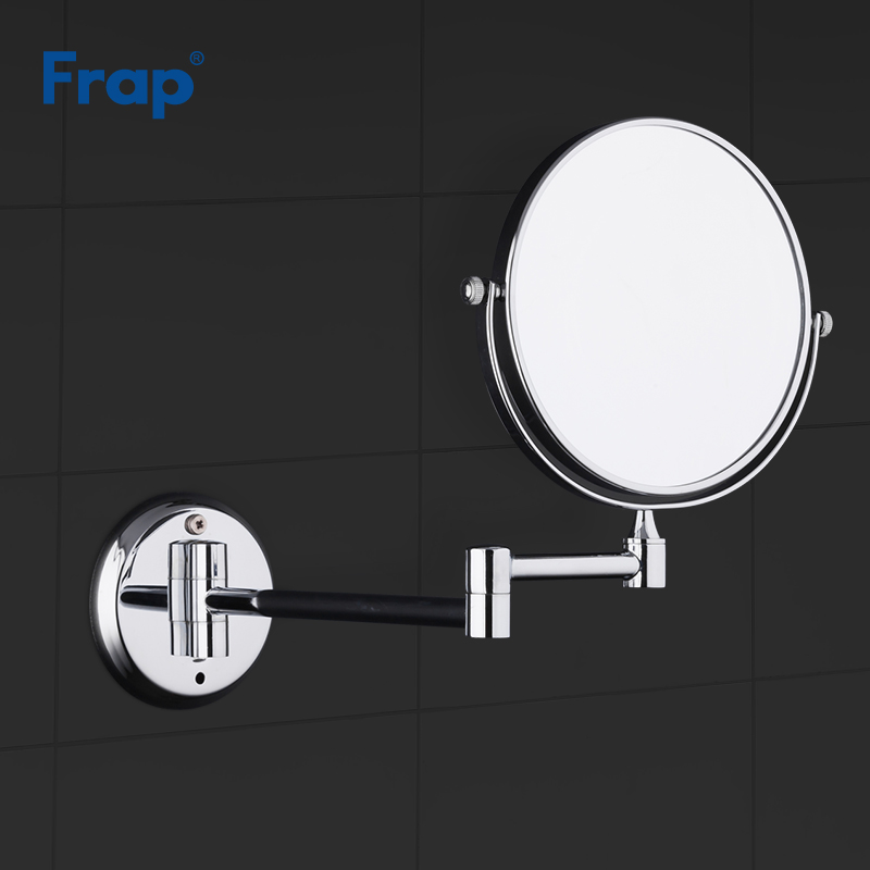 FRAP Bath Mirrors Modern Bathroom Make Up Mirrors Magnification Mirrors With Extend Arm Wall Mounted Chrome Bathroom Accessories